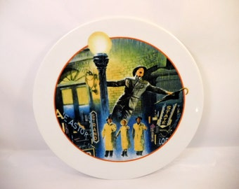 Vintage SINGIN' in the RAIN Plate - Collector Decorative - Avon Images of Hollywood 1980's - Gene Kelly - Debbie Reynolds - Classic Musical
