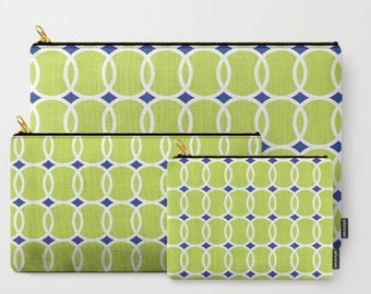 Tennis Ball Geometric Carry-All Pouch, Zippered Bag, Green Purse, Pencil Case, Coin Purse, Accessory Bag, Organizing Bags, Cosmetic Bag