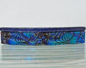 """Medium 3-1/2"""" Dichroic Fused Glass Barrette Ponytail Colorful Barrette Dichroic Jewelry Hair Barrette Womens Gifts For Her Under 30 Dollars"""