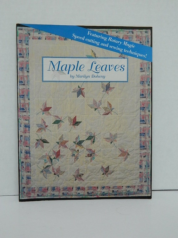 Items similar to Maple Leaves Quilt Design - Marilyn Doheny - Quilting Destash - Sewing Supplies ...