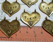 6 pcs per pack 29x24mm double bails Heart pendant one side printed Taken the other side Available Antique Bronze Finish Lead free Pewter
