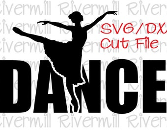 SVG DXF Dance Word Cut File