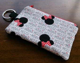 Keychain Coin Pouch - Minnie Mouse