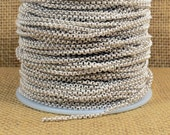 2.0mm Rolo Chain - Matte Silver - CH48 - Choose Your Length