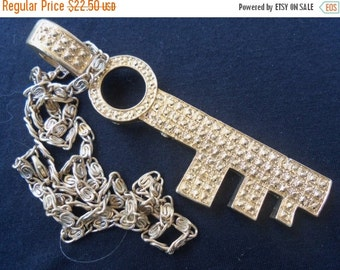 Now On Sale Vintage Key Necklace Chunky Runway Statement Jewelry