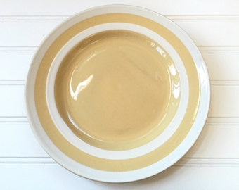 Cornish Kitchenware Plate - T G Green England - Yellow Stripe - Dinner Plate - Judith Onions