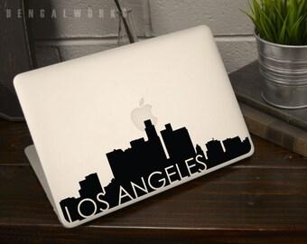 Los Angeles Skyline Macbook Decal 3 | Macbook Sticker | Laptop Decal | Laptop Sticker | Car Sticker