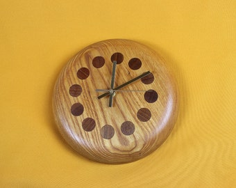 Wall clock solid Elm