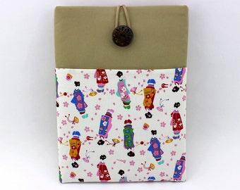 Maiko Fabric iPad Air Case, Unique Gift Idea, White
