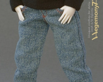Doll jeans pants for 25 cm Obitsu female size doll figure
