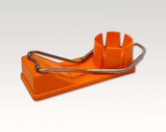 Vintage Egg slicer - Plastic - Rustic Kitchen - Slicer - Orange