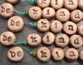 Be Kind- handmade ceramic word bead set inspiration beads
