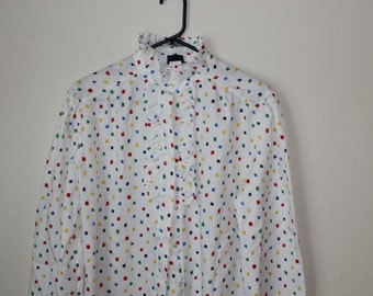 pins and needles - made in the usa- large/extra large size 16, polyester top ruffle collar