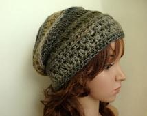 Slouchy Beanie, Crochet Slouch Hat for Women or Men, Adult Slouch Hat, Light Weight Slouch Hat