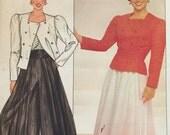 Butterick 4817 Misses' Jacket, Skirt, Culottes and Cummerbund Pattern, UNCUT, Size 12-14-16, Dorothy Hamill Pattern, High Fashion