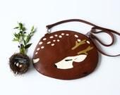 Deer Bag Cute Brown Leather Bag