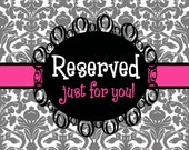 Reserved for Alexia