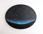 Night Sky Oval Painting