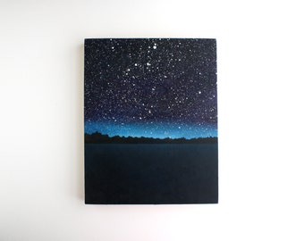 Night Sky Oil Painting - 8 x 10