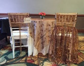 Sequin Embroidered Organza Chair Covers - for Her and for Him