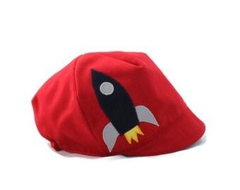 SALE*** Baby Boy Rocket Hat, Blast-off!, Reversible, Rocketman Hat, Superhero Reversible Hat, Baby, Toddler or Kid Hat, S M