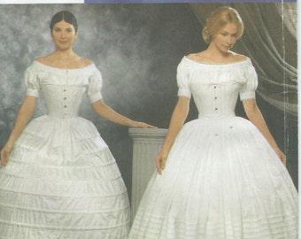 UNCUT Simplicity 9764 Civil War Undergarments Sewing Pattern Misses Size 6-12