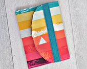 Reserved for Sara. Memory Card Wallet. Rainbow Stripe Memory Card Case. Business Card Case.