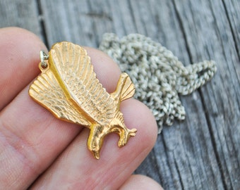 NOS Vintage brass necklace pendant.