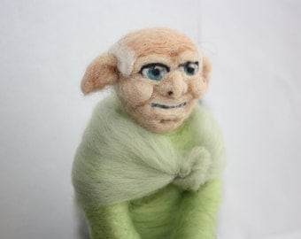 old elf soft sculpture needle felted