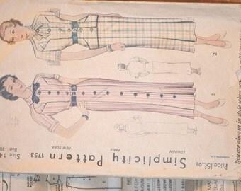 Vintage Simplicity Dress Pattern #1753