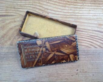 Vintage cardboard jewelry box