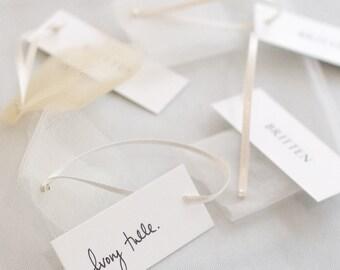 Tulle sample pack for veils