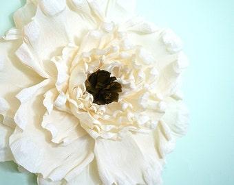 """8"""" Crepe Paper Poppy"""