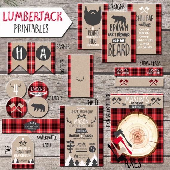 Lumberjack Printables by Justalittlesparkle