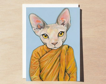 Benjamin - Greeting Card - Blank Inside - Cats In Clothes