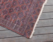 Hand Woven Moroccan Area Rug - 4 ft x 3.25 ft