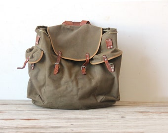 Vintage Austrian Hiking Backpack with Leather Straps