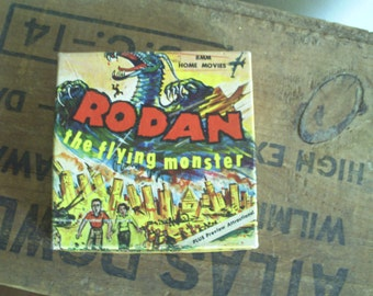 8mm Movie reel box only. RODAN the flying monster.Japanese Monster. Collectible box