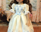 Heirloom Dress and Hair Bow for Dianna Effner 13 Inch Little Darling Doll