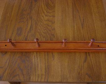 27 Inch Cherry Wood 4-Peg Shaker Rack