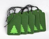 5 - Holiday / Christmas Tags - Christmas Trees