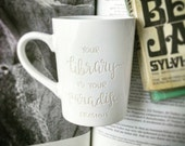 Library Engraved Mug