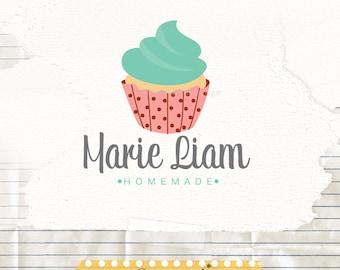 Bakers logo, cupcake logo design, design graphic design, premade logo design, watermark logo branding