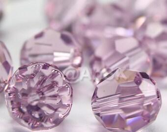 Promotion Item - 100 pcs Swarovski Elements 5000 5mm Crystal Round Beads - LIGHT AMETHYST (While Stocks Last)