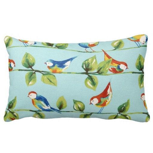 Patio Throw Pillow Outdoor Bird Pillows Outdoor Throw