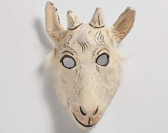 Halloween goat paper mask