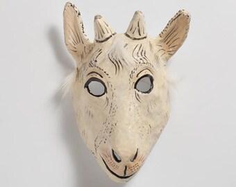 Halloween goat paper mask