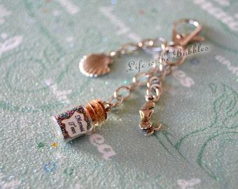 Mermaid Keychain Purse Charms, Mermaid Tears Key Chain, Sea Shell Charm, Mermaid Key Ring, Mermaid Tears Lanyard, Pirates of the Caribbean