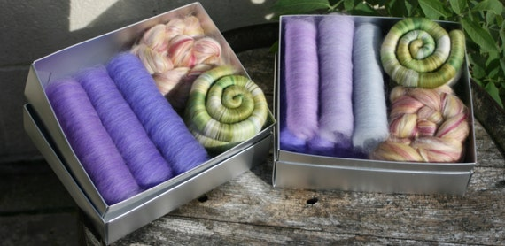 Wild Flowers Spinners / Felters Selection Box - 200g minimum