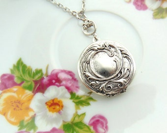 Locket Swirl Design Antique Silver Handcrafted by TheTown Tinker